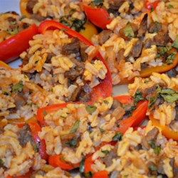 Chipotle Steak & Rice Stuffed Peppers