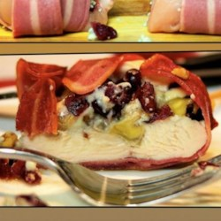 Chicken Walnut Cheese Wrapped in Bacon