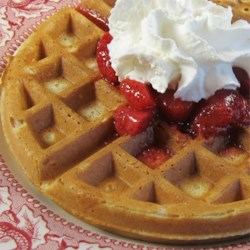 Whole Wheat Oat Waffles Recipe - Whole wheat pastry flour and oat flour give these easy waffles their light, crisp texture and nutty flavor.