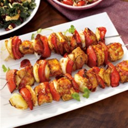 Thai Teriyaki BBQ Chicken Kabobs Recipe - This is a Thai-inspired kabob recipe that will bring to you back to the streets of Bangkok and memories of your favorite Thai BBQ Chicken.