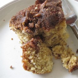 Banana Coffee Cake with Pecans Recipe - The cinnamon-brown sugar-pecan topping makes this banana cake a crowd pleaser.