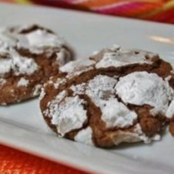 Snow-Topped Chocolate Mint Cookies