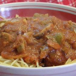 Easy Italian Sausage Spaghetti Recipe - Italian sausage spaghetti is an easy and tasty version of spaghetti and meatballs, without the hassle of making meatballs.