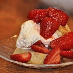 Strawberry Shortcakes Recipe - Fresh spring strawberries demand only the simplest, freshest ingredients like butter and cream for making flavorful individual shortcake desserts.