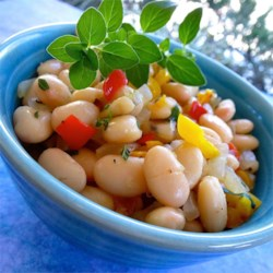 White Beans and Peppers Recipe - Any sweet pepper will work in this side dish, but I love the delicate spiciness of the long, pointy gypsy pepper. I use organic beans, and serve alongside a veggie burger.