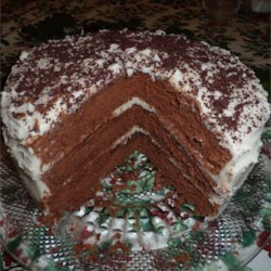 Chocolate Lizzie Cake with Caramel Filling Recipe - Named for my great aunt Lizzie Trollinger, this rich, old-fashioned chocolate cake has made a regular appearance at special family gatherings for over 75 years.