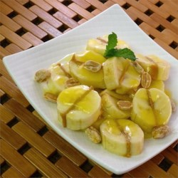 Peanut Butter Bananas and Sauce Recipe - A neighbor introduced me to this southern sweet and sour banana dish.  It was quite a hit.  I made a couple of improvements (to my tastebuds) and thought I should share it.