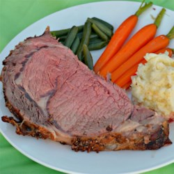 Prime Rib - It's Easier Than You Think Recipe - Prime rib with a little steak seasoning, garlic, and a good thermometer are the fool-proof ingredients to making a memorable, formal dinner party main dish.