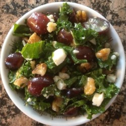 Christie's Salad Recipe - If you like kale, you'll love it in a salad with feta cheese, walnuts, and grapes.