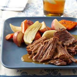 Italian Pot Roast with Fresh Fennel Recipe - Beef chuck roast is browned then braised with wine, garlic, veggies, and fresh fennel.