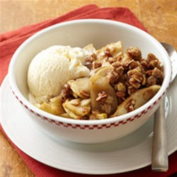 Old-Fashioned Apple Crisp with Pecans