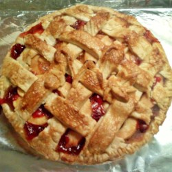 Caramel Apple Cranberry Pie
