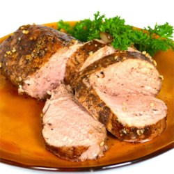 Balsamic Roasted Pork Loin Recipe - Just four ingredients will produce the tastiest pork loin you've ever had. It's a crowd pleaser!