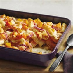 Harvest Pasta Bake with PHILADELPHIA Cooking Creme Recipe - Your family will love this dish made with a creamy butternut squash sauce, rigatoni pasta, and Italian cheeses and baked to perfection.