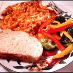 Baked Ziti I and Sesame Broccoli