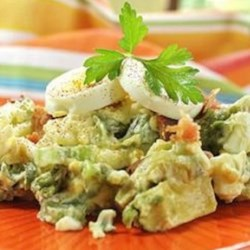 Avocado Egg Salad Recipe - This tasty spin on egg salad features a lot of avocado accented with red onion and paprika.