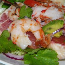Thai-Style Grapefruit and Prawn Recipe - A refreshingly spicy salad with Thai-inspired flavors.
