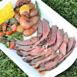 Marinated Flank Steak Recipe - This recipe makes a quick and easy overnight marinade for a grilled flank steak.