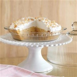 Banana Coconut Cream Pie Recipe - There is no reason to decide between banana cream pie and coconut cream pie with this delicious two-in-one recipe.