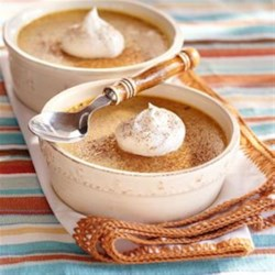 Baked Pumpkin Custard from EAGLE BRAND(R) Recipe - Everything you love about pumpkin pie but without the fuss of the crust, these custards are creamy and spiced just right.