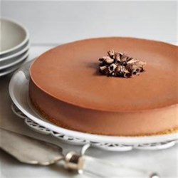 Double Chocolate Cheesecake Recipe - Cocoa and chocolate chips bring lots of chocolate to this creamy, delicious cheesecake.