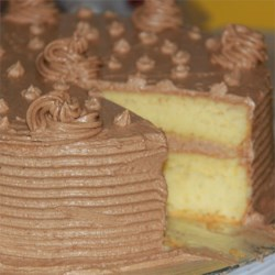 vanilla sponge with coffee butter frosting