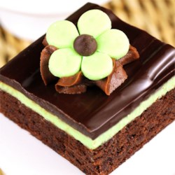 Chocolate Mint Dessert Brownies Recipe - It's a brownie covered in mint cream topped with chocolate, mmmmmm!