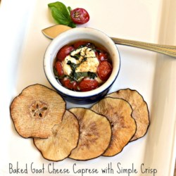 Baked Goat Cheese Caprese Salad