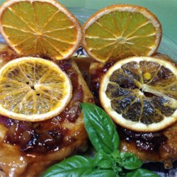 Orange Shallot Marsala Pork Chops Recipe - A fruity wine glaze coats tender pork chops in a quick recipe that's great on a weeknight.