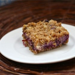 Blueberry Oat Dream Bars Recipe - A creamy and dreamy mix of oats, blueberries, and cream cheese are baked into crowd-pleasing bars.