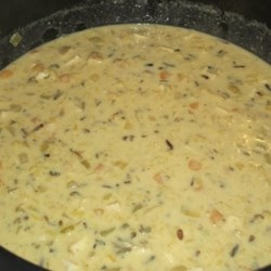 Short Cut Creamy Chicken and Wild Rice Soup