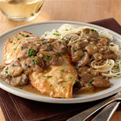 Chicken Marsala from Birds Eye(R) Recipe - Boneless, skinless chicken breasts are browned in butter and simmered in a broth-wine sauce with mushrooms, onions, and garlic in this quick and easy variation of a classic recipe.