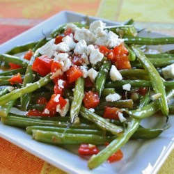 Arica's Green Beans and Feta Recipe - This green bean side dish delivers a fresh flavor with feta cheese as an accent.