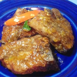 Lamb Chops in Duck Sauce Recipe - Lamb chops taste great when seasoned with a savory rub and baked in a coating of sweet and sour sauce.