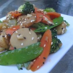 Steamed Asian Sesame Veggies