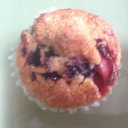 Strawberry-Blueberry Muffins Recipe - Strawberry-blueberry muffins are a festive treat to serve at summer picnics that they whole family and neighborhood will enjoy.