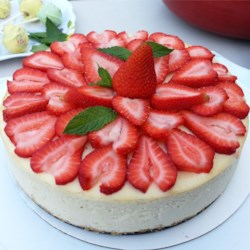 New York Cheesscake with fresh strewberry