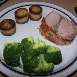 Barded Pork Roast And Fondant Potatoes