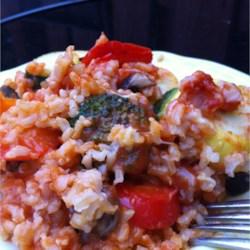 Brown Rice Vegetable Loaf