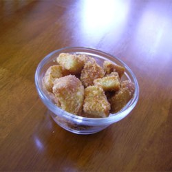 Cheese Garlic Croutons Recipe - Homemade cheese and garlic croutons are a delightful topping for salad and a great way to use old bread.
