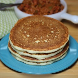 Cornbread Cakes Recipe - Pancakes with the flavor of cornbread are quick and easy to whip up, making them perfect for camping.