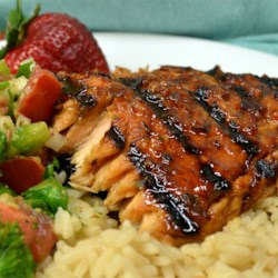 Hoisin-Glazed Salmon Recipe - A spicy hoisin sauce gives this sweet and spicy salmon an Asian flair!