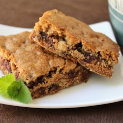 Date-Nut and Brown Sugar Bars Recipe - Cardamom and cinnamon spice up these chewy date bars.