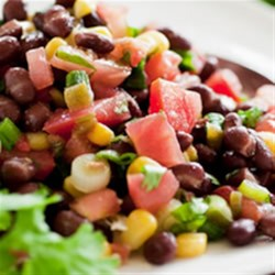 Becel® Corn & Black Bean Salad Recipe - To make the texture more interesting, use corn kernels cut from freshly steamed cobs and plump home-cooked black beans.