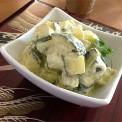 Cream Cheesy Cubed Zucchini with Lemon and Oregano Recipe and Video - Try this recipe as a tasty spring/summer side dish, or as an impressive base for grilled chicken, fish, or shrimp.