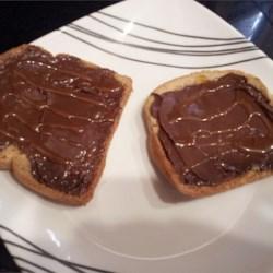 Open-Faced Honey & Hazlenut Spread Sandwich