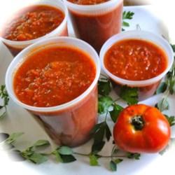 "Bibi's Personal Recipe:  ""Tomato Sauce for the Freezer"""