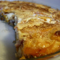 Peach and Cream Cheese Torte Recipe - Peaches and cream cheese fill a homemade crust for an easy dessert option that could become your family's favorite.