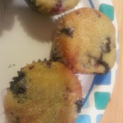 Best Lactose Free Blueberry Muffins Recipe - You won't miss the dairy in these tangy blueberry muffins!  They have great flavor and a moist texture that produces muffins that no one will believe came from a dairy-free recipe.