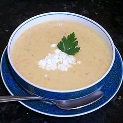 Sweet Potato and Apple Soup Recipe - Great Thanksgiving or Christmas starter soup. Make it your own by adding a dash of nutmeg or other seasonal spice.